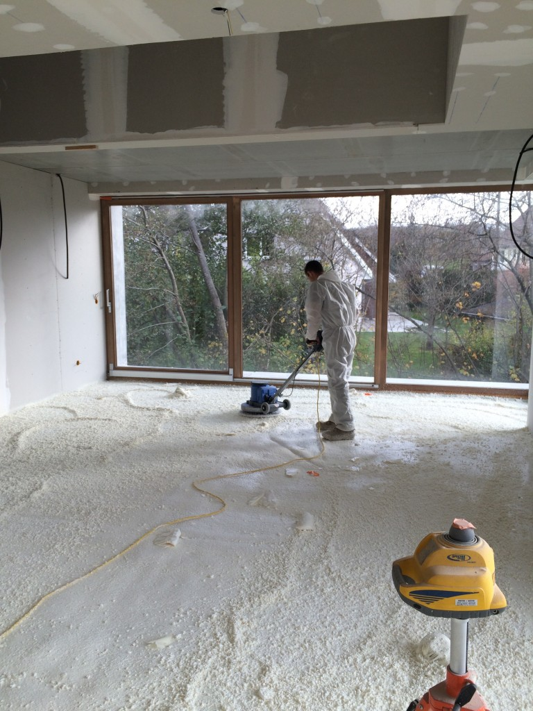 La mousse polyur thane chape isol - Chape polyurethane projete prix ...
