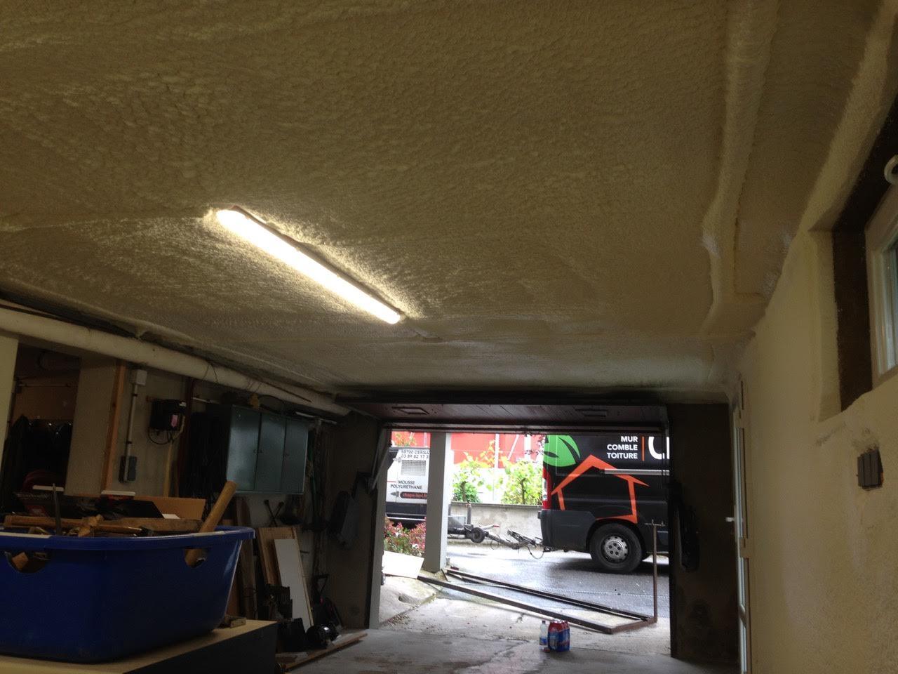 Isolation projet e en sous face et sur les murs dans un for Garage partenaire allianz
